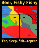 Beer, Fishy Fishy eat sleep fish repeat-3383x4192
