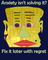 Anxiety not solving things Fix it later with regret-3383x4192