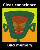 """""""Truth Well Told"""" brand """"#Blacklivesmatter Clear conscience, bad memory"""", African mask social justice T-shirt"""