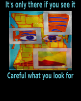 Its only there if you see it Careful what you look for- smaller colored text-rev2-3383x4192