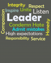 """""""Truth Well Told"""" brand Leadership inspire, unite, and condemn hate bold text T-shirt"""